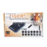 Tiger star I100 dvb s2 MPEG4 H.264 FTA digital mini best hd satellite receiver set top box