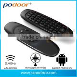 Air mouse,2015 Hot selling Wireless touch with keyboard for Fly Air Mouse & smart remote control, Air mouse