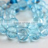 Blue Topaz Faceted Beads