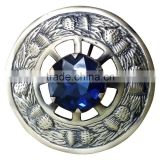 Thistle Design Piper Plaid Brooch With Blue Stone In Antique Finish Made OF Brass Materia