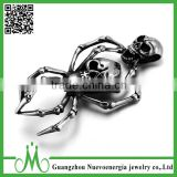 316L stainless steel cremation jewelry double skull necklace cremation skull pendant                                                                                                         Supplier's Choice