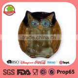 Wholesale Owl Shape Ceramic Glaze Plate