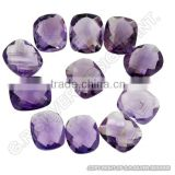 wholesale natural loose amethyst gemstones briolette cut rectangle cushion suppliers