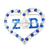 Wholesale vnistar zeta phi beta heart shape crystal brooch girls' fancy pin jewelry in normal size high quality