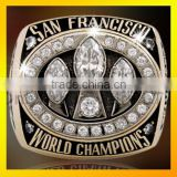 Custom baseball championship ring with zircon top quality champion rings
