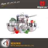 Stainless steel hollow handle and knob cookware glass lid capsule bottom cookwares , top class kitchen ware                                                                         Quality Choice