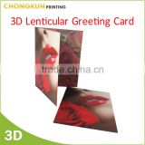 Professional Manufacturer Custom Printing 3D lenticular Greeting card 3D birthday greeting card