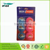 White PP beer non-hazardous pong balls