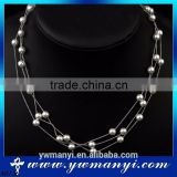 Top Sale China Factory Direct Sale pearl multilayer jewelry bead necklace wholesale N0136