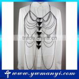 China supplier fashion design body chain jewelry for women full body chain jewelry B0010
