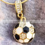 wholesale crystal football charms