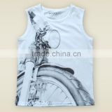 china supplier boys sleeveless motorcycle design fashion boys kid clothing summer 100% cotton t -shirt wholesale kid clothing