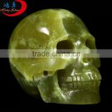 Lemon Stone Carving Skull Statue 2015 Feng Shui Crafts Natural Stone Carved Skulls Figurine Chakra Carving...