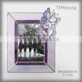 MX020014 tiffany style stained glass wholesale butterfly photo frame for table decoration