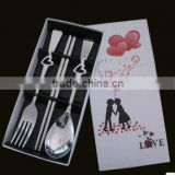 Lovers Portable Stainless Steel Restaurant Cutlery Gifts Sets in Box