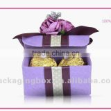 Fancy paper chocolate box with divider and beautiful design