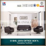 modern sofa metal frame leather couch sets SJ592