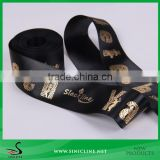 Sinicline Gold Colored Foiled Satin Tape for Packaging                                                                         Quality Choice