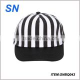 New design custom cotton stripe snapbak cap hat