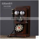 Retro antique iron craft artificial telephone home decoration                                                                                                         Supplier's Choice