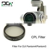 DJI phantom4/phantom3 Lens Filter CPL for Gimbal Camera Ultraviolet Filter UAV Quadcopter drone parts accessories