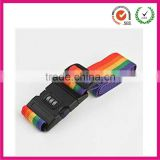 Novelty rainbow luggage case belt strap fasten with safety lock