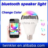 LED Light Bulb E27 Bluetooth Speaker 2 IN 1 Portable Wireless Music Smart Colorful RGB Bubble Ball Lamp 6W for iPhone Samsung