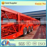 Used 2 axles car transport truck trailer with factory low price