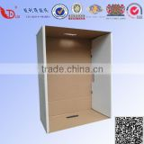 Portable recycled corrugated banker carton box packaging