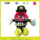 M&M Red plush Promotional Advertising Plush Doll Toy For Kids,M&M premium promotional gift,mini plush toy for promotion