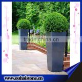 High quality special design natural black slate stone flowers in pots
