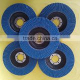 100mm Calcine Fused Alumina Abrasive flap disc for stainless steel cutting/polishing with fiberglass substrate