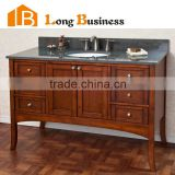 LB-LX2010 High Quality Fashion Bathroom Solid Wood Vanity with Ceramic Bowl, wooden bathroom cabinets
