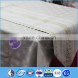 polyester custom trade show organza table runner with satin border