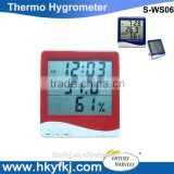 Large lcd display thermohygro meter desktop temperature humidity thermo logger (S-WS06)