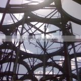 Modern steel structure sculpture for tree