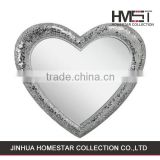 Factory sale fashion style heart shape bright wall mirror
