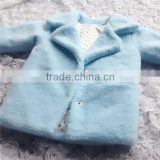 girls sky blue fur coat clothing , winter fur clothing sky blue