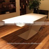 Bespoke Z-shape design faux stone/solid surface classic office furniture