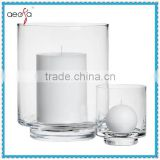 Wholesale large clear floor standing glass candle holder                                                                         Quality Choice