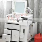 factory outlet folding Korean white Multi-functional dressing table,makeup dresser with mirror                                                                         Quality Choice