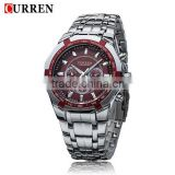 HOGIFT Fashion Quartz Analog Wristwatch/Men's Curren stainless steel Watch/Waterproof Reloj Relojes