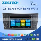 car cassette and cd dvd and gps for BENZ W211 with Rear View Camera GPS BT IPOD TV Radio RDS