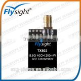 G2394 flysight TX502 5.8ghz 200mW 40 ch mini light fpv video professional raceband transmitter for racing drone