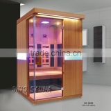 New Design Best Selling carbon and red glass heaters infrared wooden sauna room (CE/ISO/ETL)
