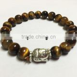 Yellow Tiger Eye Buddha Bracelet for sale | Healing Crystals INDIA
