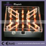 Wireless remote control 4 inch square wedding table centerpiece under vase led light base