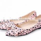 2016 wholesale shoes shoes wholesale ballerina shoes flat star print fashion ballerina shoes