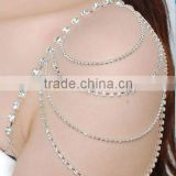 decorative fancy jeweled ripple bra strap