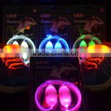 New arrival led flashing shoelace , glow shoelace , led lighting shoelace for night walking